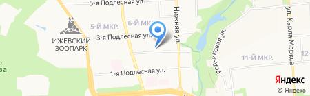 Бином на карте Ижевска