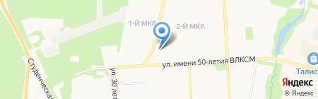 Браво на карте Ижевска