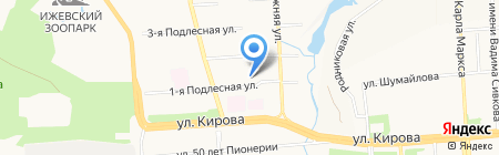 Детский сад №283 на карте Ижевска