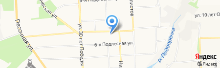 Акаделика на карте Ижевска