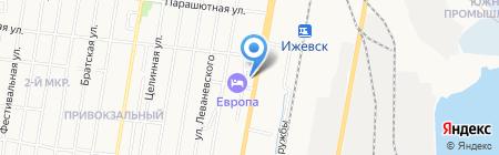 Дом культуры железнодорожников на карте Ижевска