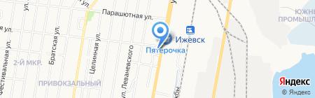 Салат на карте Ижевска
