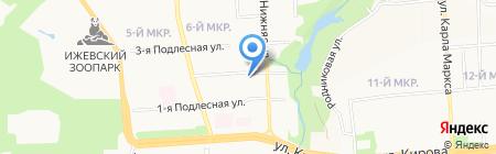 Водолей на карте Ижевска