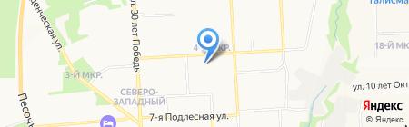 Империалъ на карте Ижевска