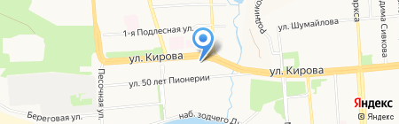 Изыскатель на карте Ижевска