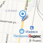 Банкомат на карте Ижевска