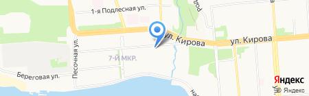 Высотка на карте Ижевска