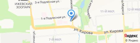 Средняя общеобразовательная школа №62 на карте Ижевска