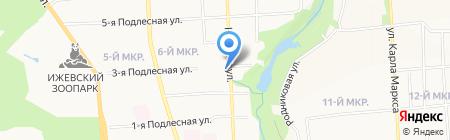 Радужный на карте Ижевска