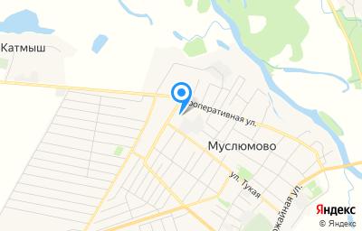 Местоположение на карте пункта техосмотра по адресу Респ Татарстан, с Муслюмово, ул Молодежная, д 2