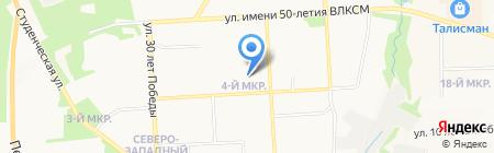 Детский сад №59 на карте Ижевска