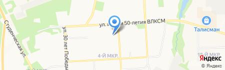 Детский сад №50 на карте Ижевска