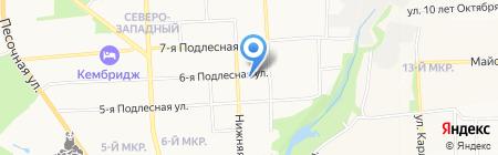 Нижняя 30 на карте Ижевска