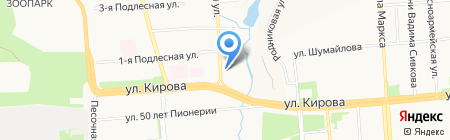 Металлург на карте Ижевска