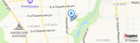 Иждом на карте Ижевска