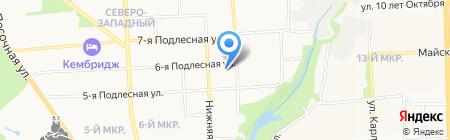 Баня в Металлурге на карте Ижевска