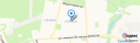 Детский сад №196 на карте Ижевска