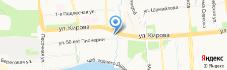 Агрос на карте Ижевска