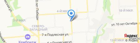 Подлесный на карте Ижевска
