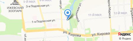Парк авто на карте Ижевска