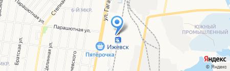 Пригородный железнодорожный вокзал на карте Ижевска