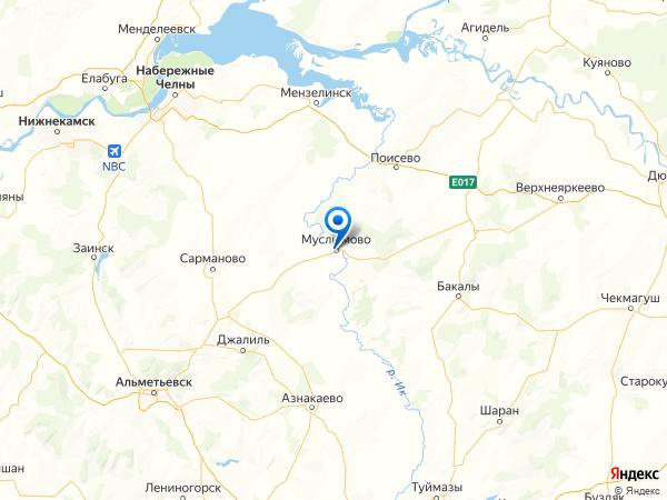 село Муслюмово на карте