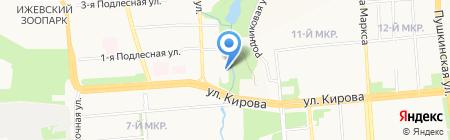 Автопланета на карте Ижевска