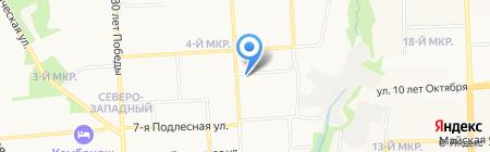 Пушкинская поликлиника на карте Ижевска