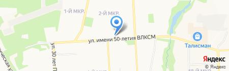 Берёзка на карте Ижевска