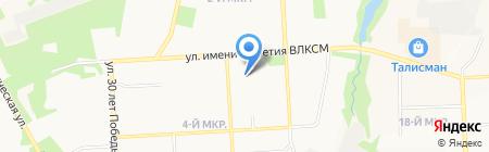 Юбилейный на карте Ижевска