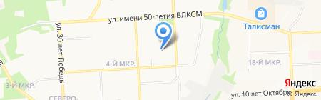 Средняя общеобразовательная школа №80 на карте Ижевска