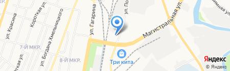 Изотеп на карте Ижевска