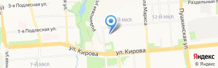 Детский сад №7 на карте Ижевска