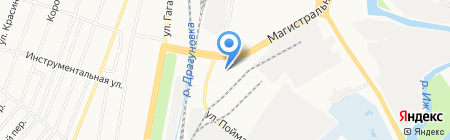 Москва на карте Ижевска
