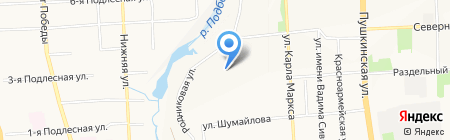 Отель Ижевск на карте Ижевска