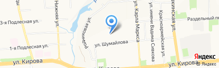 Турал на карте Ижевска