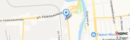 Восемь сфер на карте Ижевска