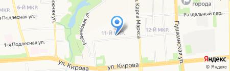 Медицея на карте Ижевска
