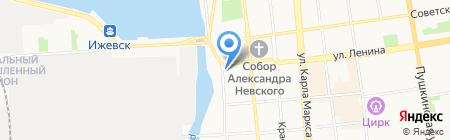 ИжГСХА на карте Ижевска