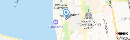 Цифра на карте Ижевска