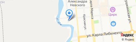 Бобровая долина на карте Ижевска