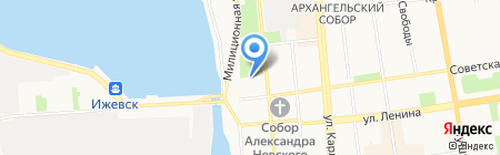Министерство образования и науки Удмуртской Республики на карте Ижевска