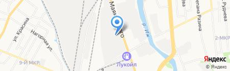 Автозапчасти на карте Ижевска