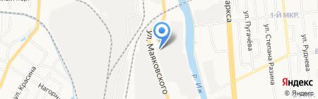 Авто ГИР на карте Ижевска