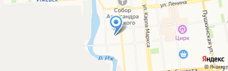 Актив на карте Ижевска