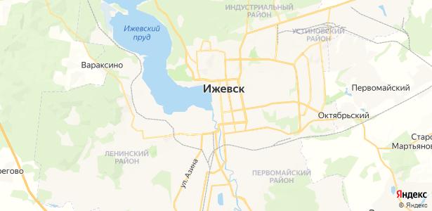 Ижевск на карте