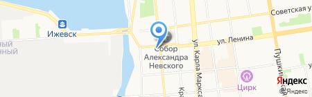 Управление образования Администрации г. Ижевска на карте Ижевска