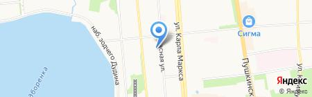 Темп на карте Ижевска