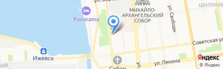 Юничел на карте Ижевска