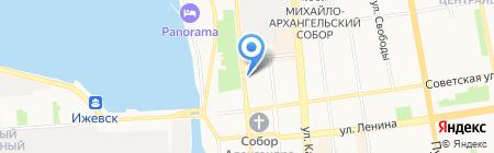 Книги на Пушкинской на карте Ижевска